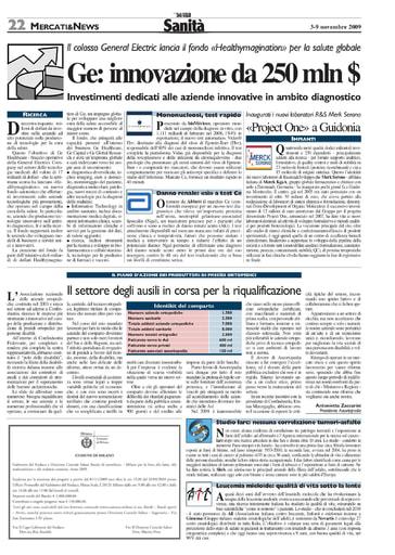 03 novembre 2009 Il Sole 24 Ore Sanità